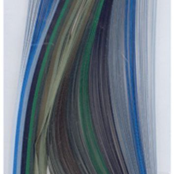 "Quilling Paper .125"""" 80/Pkg-Blue & Green (8 Colors)"