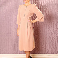 Custom classic Bridesmaids dress - Made to order A line dress - Modest  midi dress with sleeves