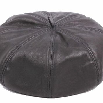 New Men's Women's 100% Real Leather Beret / Newsboy Caps / Dr Hats Ca