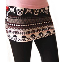 Skull and skirt leggings size medium