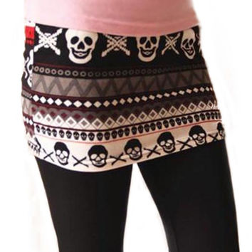 Skull and Skirt Leggings Design 104