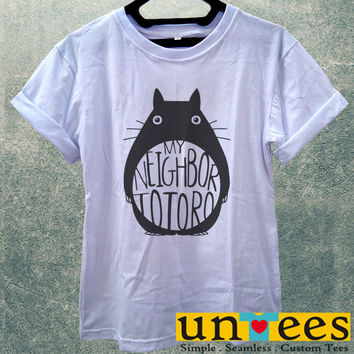 Low Price Women's Adult T-Shirt - My Neighbor Totoro Logo design