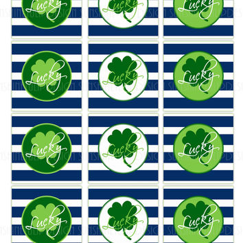 St Patrick's Day Cupcake Toppers, Sticker Labels & Party Favor Gift Tags