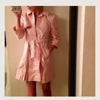 Vintage Rothschild Pink Raincoat! Trench-coat 💓