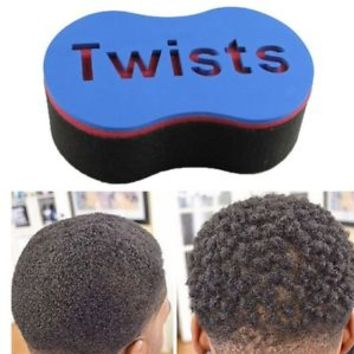 Double Barber Hair Brush Sponge / Dreads Locking Twist Wave Oval Coil Afro Curl