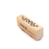 Flower Vine Border Wooden Rubber Stamp
