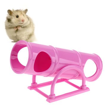 Funny Pet Hamster Seesaw Sports Toy Plastic Cage House Tunnel Tube Hamster Toy for Small Animals 16.7 X 7.1X 8cm