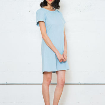 DUSEN DUSEN | Fitted Tee Dress - Light Denim