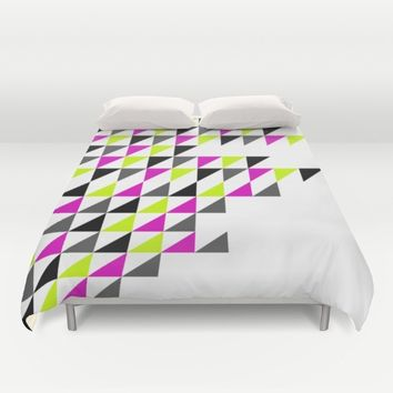Magrellow triangle pattern  Duvet Cover by Xiari