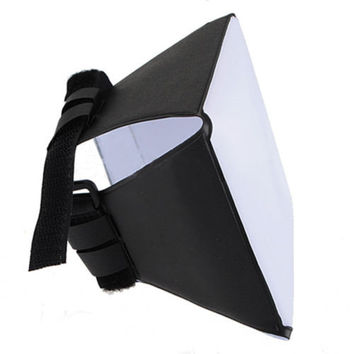 FASHION  Pop-up Flash Diffuser Soft Box For Canon Nikon Sigma Off-Camera CB AU4