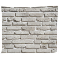 White Brick Pattern Tapestry