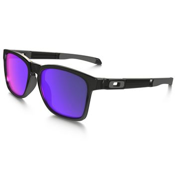 100% ORIGINAL OAKLEY CATALYST BLACK INK/+RED IRIDIUM