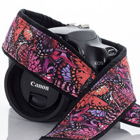 dslr Camera Strap, Butterfly, Canon or Nikon Neck Strap, SLR, Mirrorless, Pocket,177