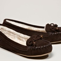 AEO Women's Cozy Suede Moccasin