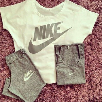 3 Pcs Set Nike Fashion Leisure Sportswear Set