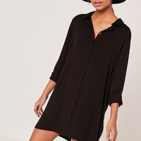 Missguided - Oversized Shirt Dress Black