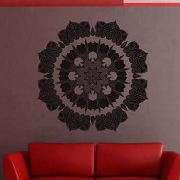 ik2394 Wall Decal Sticker beautiful mandala yoga hall bedroom hall