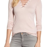 Velvet by Graham & Spencer Lace-Up Top | Nordstrom