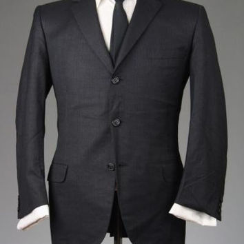Vintage 50s/60s Hickey Freeman Charcoal Wool TWEED Blazer/Jacket 40 S
