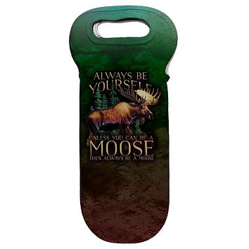Always Be Yourself Unless Moose Wine Tote Bag