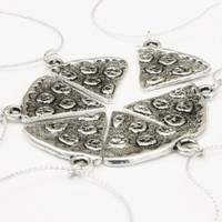 Silver Pizza Slice Charm Necklace - Urban Paradise