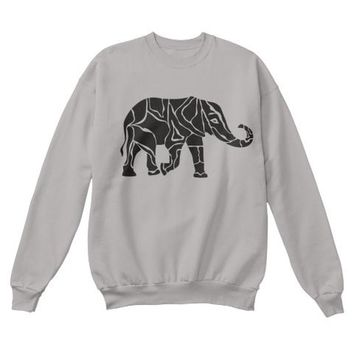 Elephant Print Youth Crewneck Sweatshirt