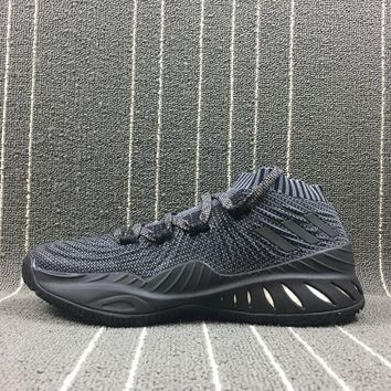 LMFUX5 Adidas Crazy Explosive Low PK Andrew Wiggins PrimeKnit Boost Black Basketball Shoes BY4570 Sneaker