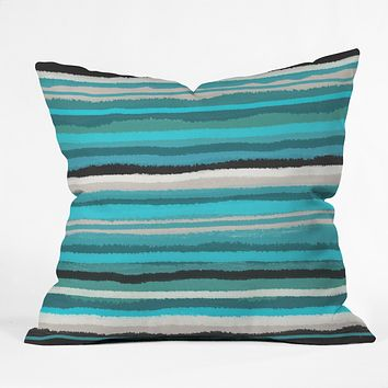 Viviana Gonzalez Painting Stripes 01 Throw Pillow