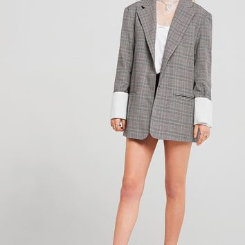 Alyssa Glen Plaid Check Jacket Discover the latest fashion trends online at storets.com