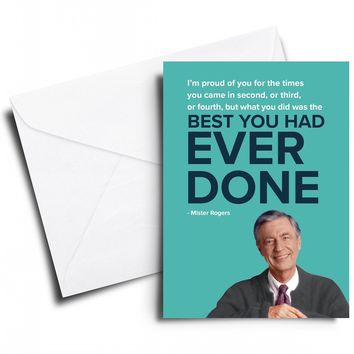 I'm Proud of You for the Times Mister Rogers Card
