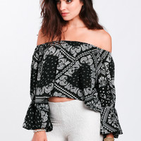 Oasis Printed Crop Top
