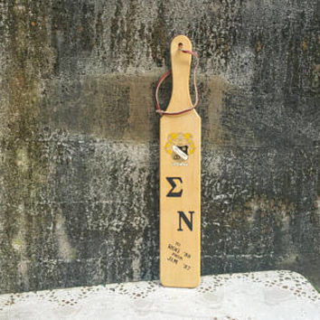 Fifties Sigma Nu Fraternity Paddle Ohio University