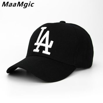 352d89e3080 2018 New letter Baseball Caps LA Dodgers Embroidery Hip Hop bone Snapback  Hats for Men Women