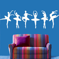 Wall Decal Vinyl Sticker Decals Art Decor Design Set 6 Ballerina Gymnastics Ballet Dancer Acrobatics Dance Girl Sport Bedroom Dorm (r482)