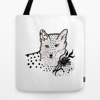 Fox Hope Tote Bag by Robin Maria Pedrero
