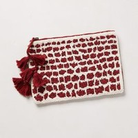 Spotted Shimmer Pouch by Jasper & Jeera Red One Size Clutches