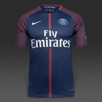 KUYOU PSG 2017/18 Home Men Soccer Jersey Personalized name and number
