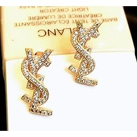 YSL Earring Alphabet S925 Sterling Silver Earrings