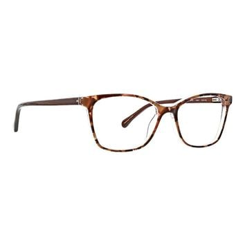 Trina Turk - Teddi 53mm Blush Tortoise Eyeglasses / Demo Lenses