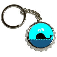 Whale of a Time Pop Cap Bottle Opener Keychain
