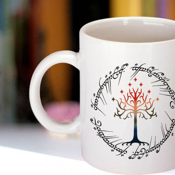 Tree The Ring Space The Lord of The Ring Custom Mug funny Coffee Mug Tea Mug White Mug