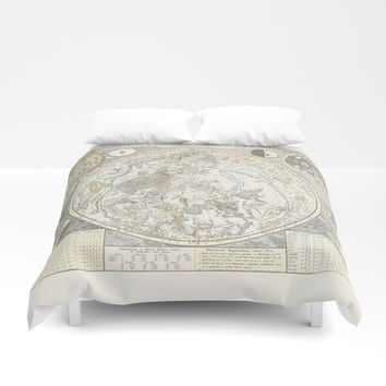 Star map of the Southern Starry Sky Duvet Cover by anipani