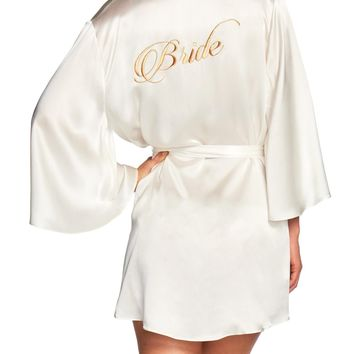 Naked Princess Silk Bridal Robe - Bride in Gold