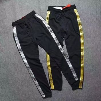off white pants men Sweatpants