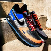 Free shipping: Nike Air Force 1 Low AF1 Colorblock Abrasion Sneakers Shoes