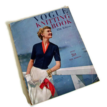 Vintage Vogue Knitting Patterns Book, 1940's Knitwear, Vintage Fashion, Fashion Photography