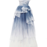 Hand Pleated Tulle Gown | Moda Operandi