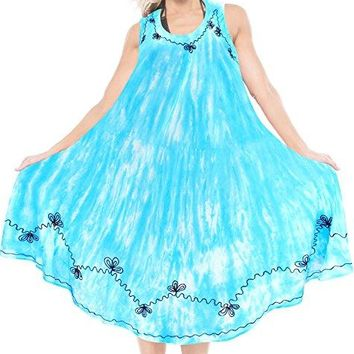 La Leela Aloha luau Boho Beach Casual Party Wear Summer Evening Maxi Dress For Women Tie Dye