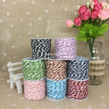 10M DIY Paper Twine Rope String Wedding Celebration Decoration Craft DIY Accessories Handmade Materials Christmas Decoration