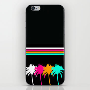 Neon Palm Trees iPhone & iPod Skin by KJ53321